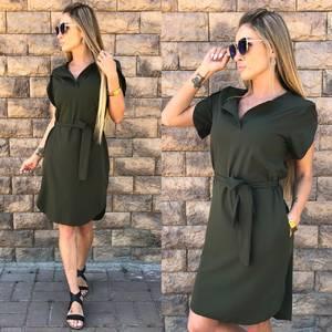 Платье короткое однотонное летнее Ф1527
