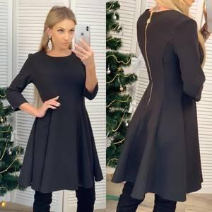 Платье короткое коктейльное однотонное Ф6455