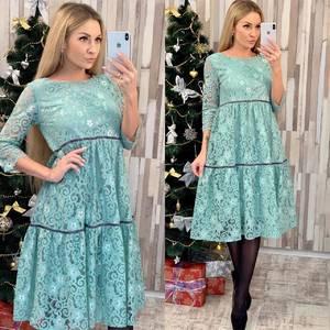 Платье короткое нарядное с рукавом 3/4 Ф7958