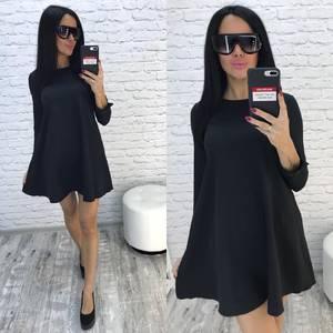 Платье короткое черное современное Ф0736