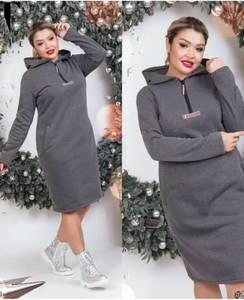 Платье короткое с длинным рукавом А11029