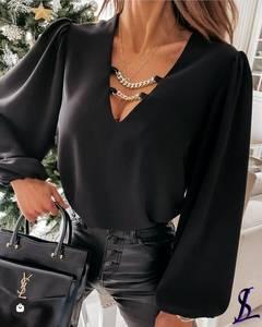 Блуза черная А24747