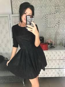 Платье короткое коктейльное с рукавом 3/4 Ф6073