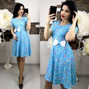 Платье короткое с принтом летнее Х6277