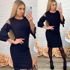 Платье короткое вечернее однотонное Ф5517