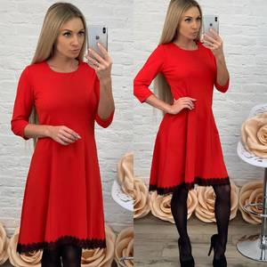 Платье короткое коктейльное красное Ф5513