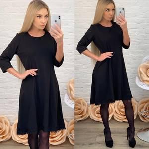 Платье короткое коктейльное черное Ф5514