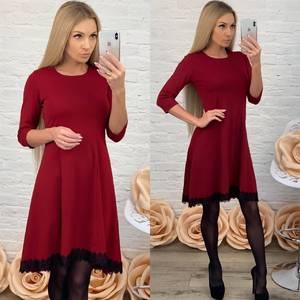 Платье короткое коктейльное красное Ф5512