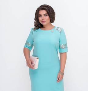 Платье короткое нарядное голубое Х2109