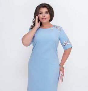 Платье короткое нарядное голубое Х2110