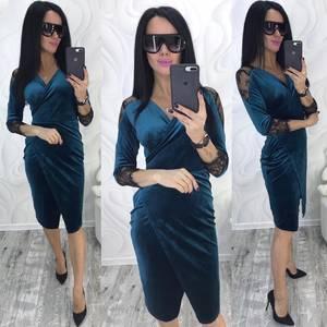 Платье короткое с рукавом 3/4 современное Ф8742