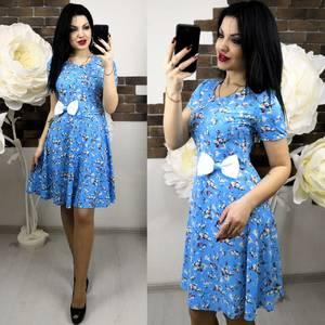 Платье короткое с принтом современное Х6278