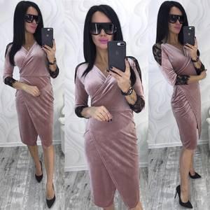 Платье короткое с рукавом 3/4 современное Ф8743