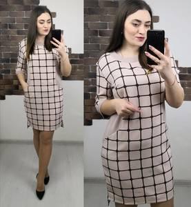 Платье короткое нарядное с принтом Х3989