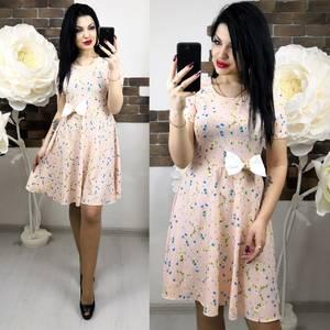 Платье короткое с принтом летнее Х6279