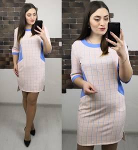 Платье короткое нарядное с принтом Х3990
