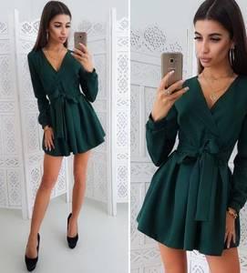 Платье короткое коктейльное с длинным рукавом Х2056