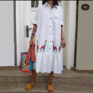 Платье короткое белое А24759