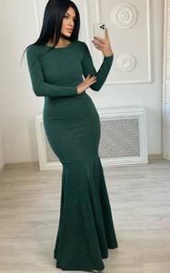 Платье длинное однотонное А22945