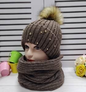 Шапка и шарф Хомут А24676