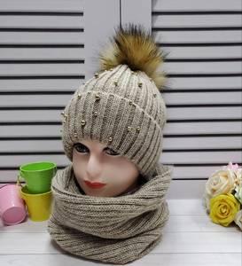 Шапка и шарф Хомут А24679
