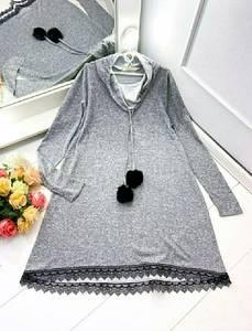 Платье короткое с длинным рукавом А48626