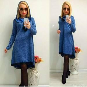 Платье короткое с длинным рукавом А24793