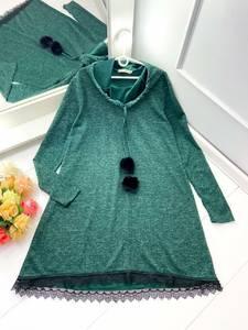 Платье короткое с длинным рукавом А24794