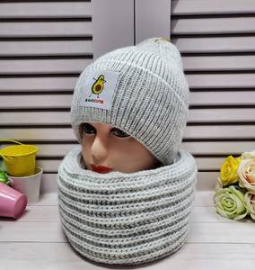 Шапка и шарф Хомут А24659