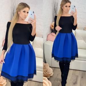 Платье короткое коктейльное современное Ф8074
