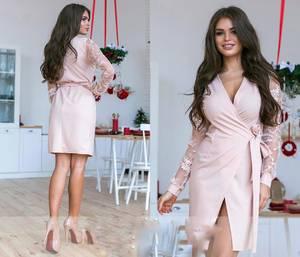 Платье вечернее нарядное с длинным рукавом элегантное Ш9342