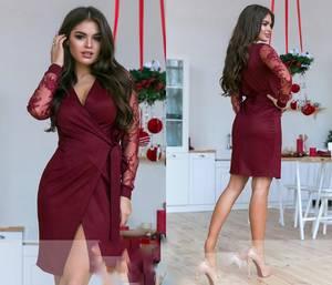Платье вечернее нарядное с длинным рукавом элегантное Ш9349