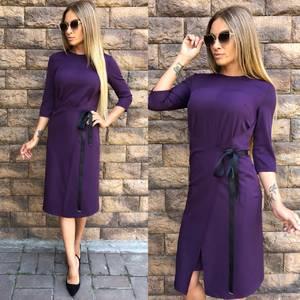 Платье короткое однотонное современное У0053