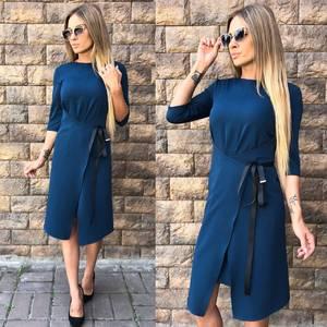 Платье короткое однотонное современное У0055
