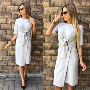 Платье короткое однотонное современное У0047