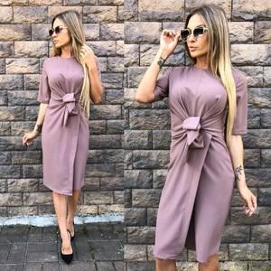 Платье короткое однотонное современное У0048