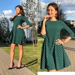 Платье короткое повседневное с рукавом 3/4 элегантное У0835