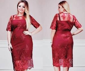 Платье короткое вечернее красное Ф6389