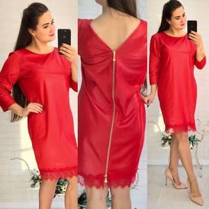 Платье короткое нарядное красное У8979