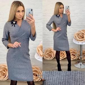 Платье короткое с рукавом 3/4 классическое Ф5840