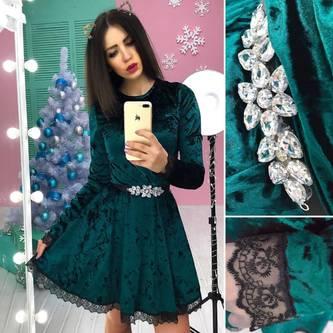 Платье короткое с длинным рукавом современное Ф8278