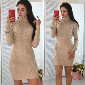 Платье короткое облегающее теплое Ф3303
