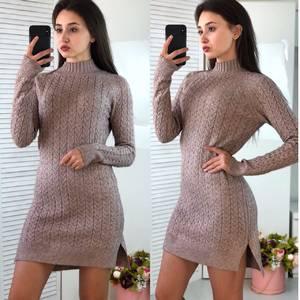 Платье короткое облегающее теплое Ф3313