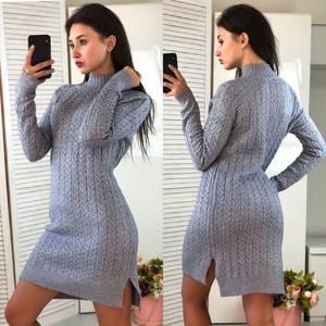 Платье короткое облегающее теплое Ф3314