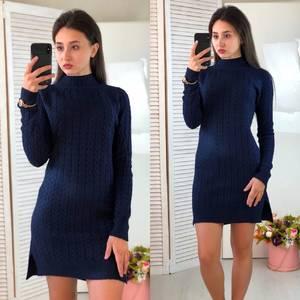 Платье короткое облегающее теплое Ф3315