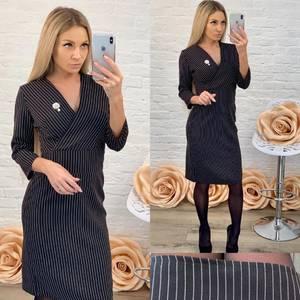 Платье короткое с рукавом 3/4 классическое Ф5841
