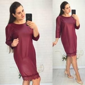 Платье короткое нарядное красное У8981