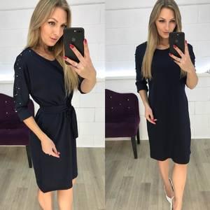 Платье короткое нарядное с рукавом 3/4 Ф3634