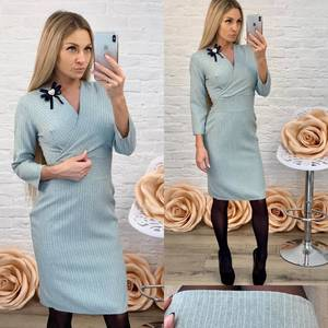 Платье короткое с рукавом 3/4 классическое Ф5842