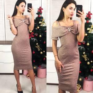 Платье короткое вечернее облегающее Ф8281
